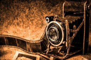 camera, film, vintage